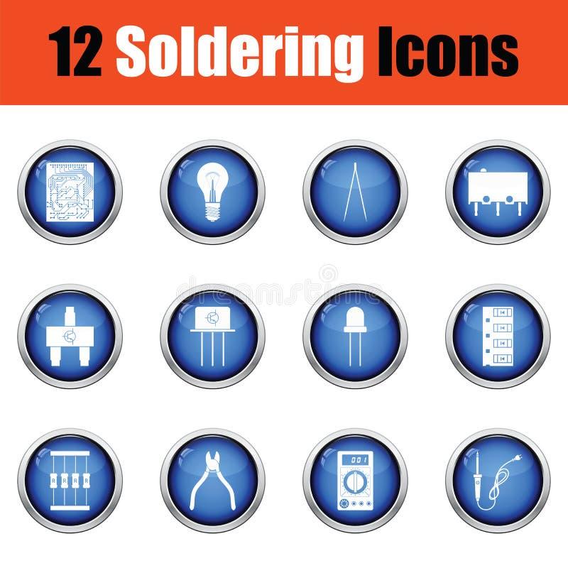 Download Ensemble D'icônes De Soudure Illustration Stock - Illustration du indicateur, processeur: 77160895