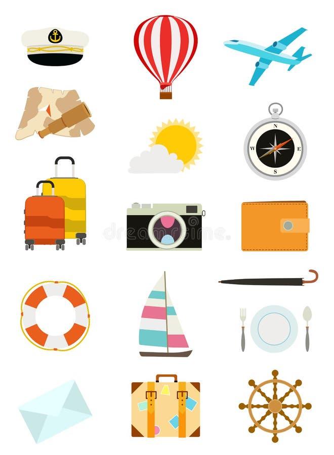 Ensemble d'icônes de tourisme illustration libre de droits
