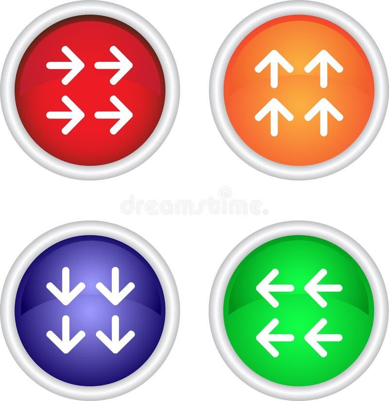Ensemble d'icônes de vecteur avec des flèches illustration stock