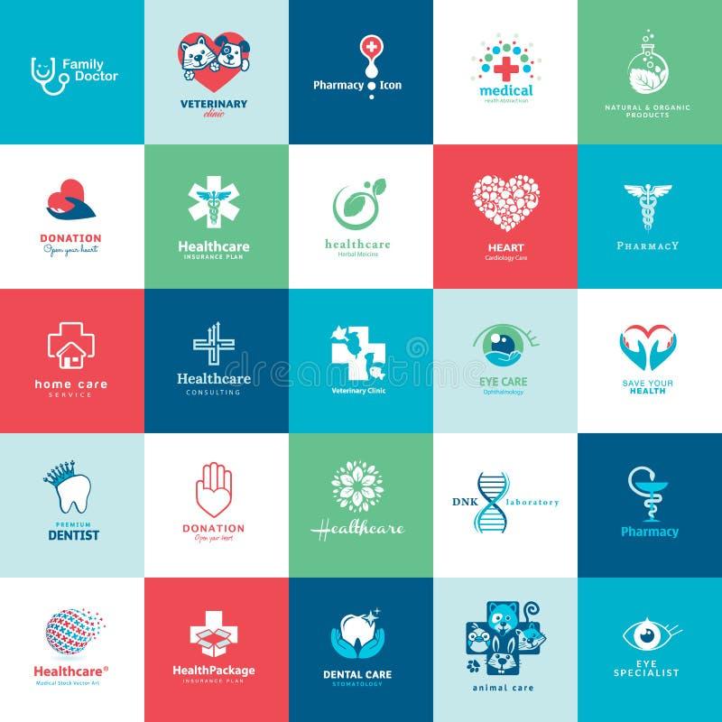 Ensemble d'icônes médicales illustration de vecteur