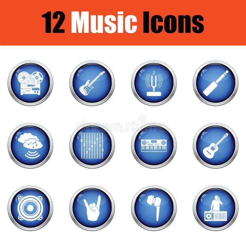 Download Ensemble D'icônes Musicales Illustration de Vecteur - Illustration du disque, illustration: 77158123