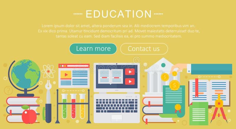 Ensemble d'icônes plates de concept de construction pour le Web et les services et les apps mobiles Icônes pour l'éducation, éduc illustration de vecteur