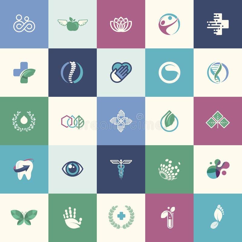 Ensemble d'icônes plates de conception pour la médecine illustration stock