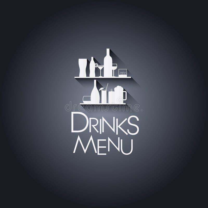 Ensemble d'icônes plates modernes de boissons ou de barre de conception illustration de vecteur
