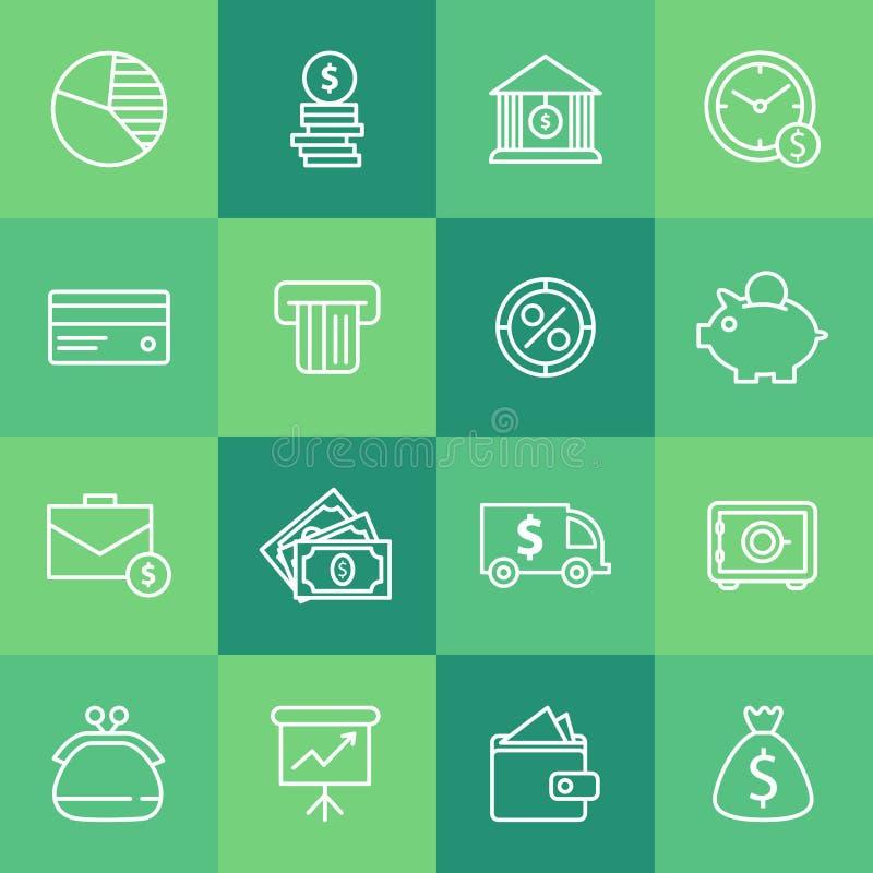 Ensemble d'icônes simples d'affaires illustration de vecteur