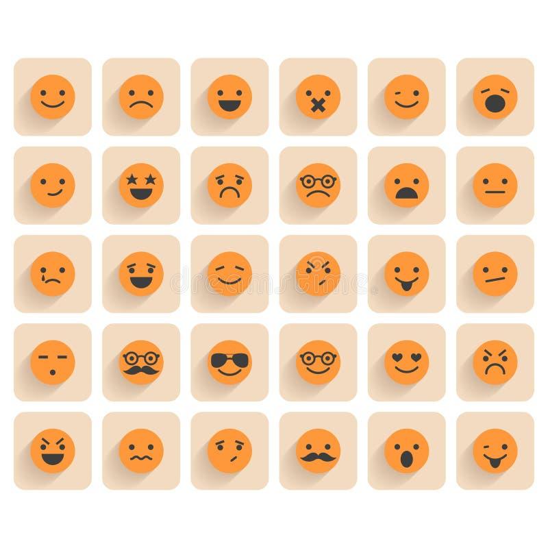 Ensemble d'icônes souriantes illustration de vecteur