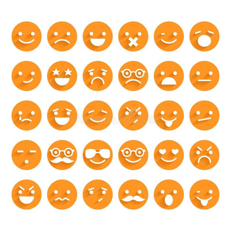 Ensemble d'icônes souriantes illustration libre de droits