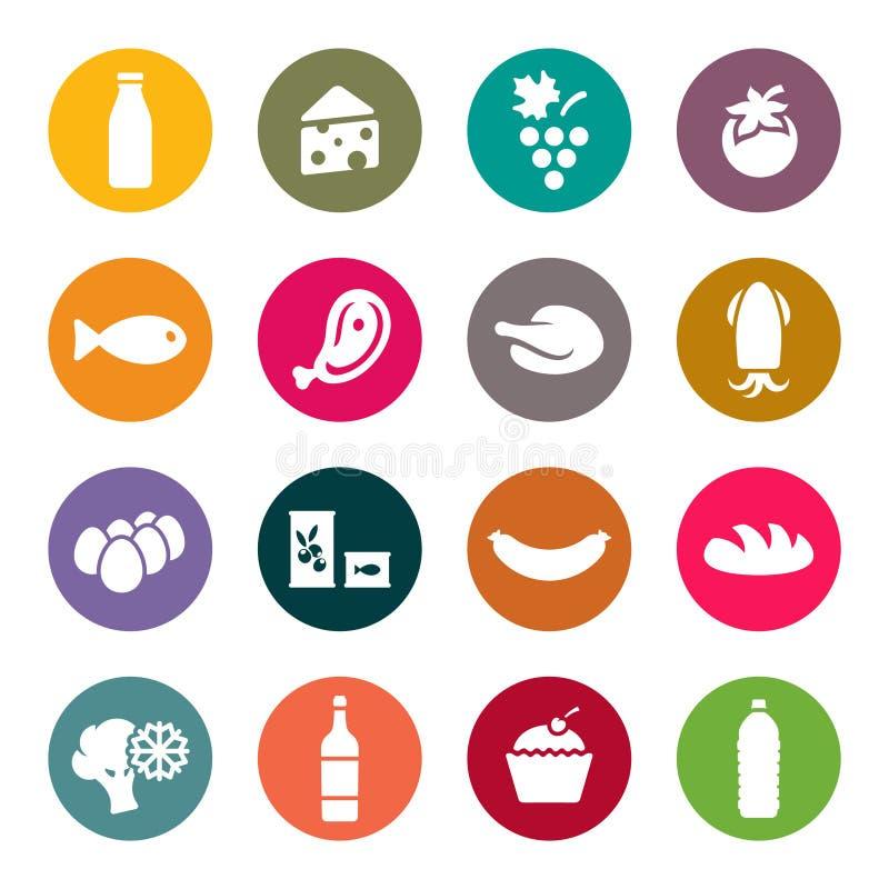 Ensemble d'icônes sur un aliment de thème illustration libre de droits
