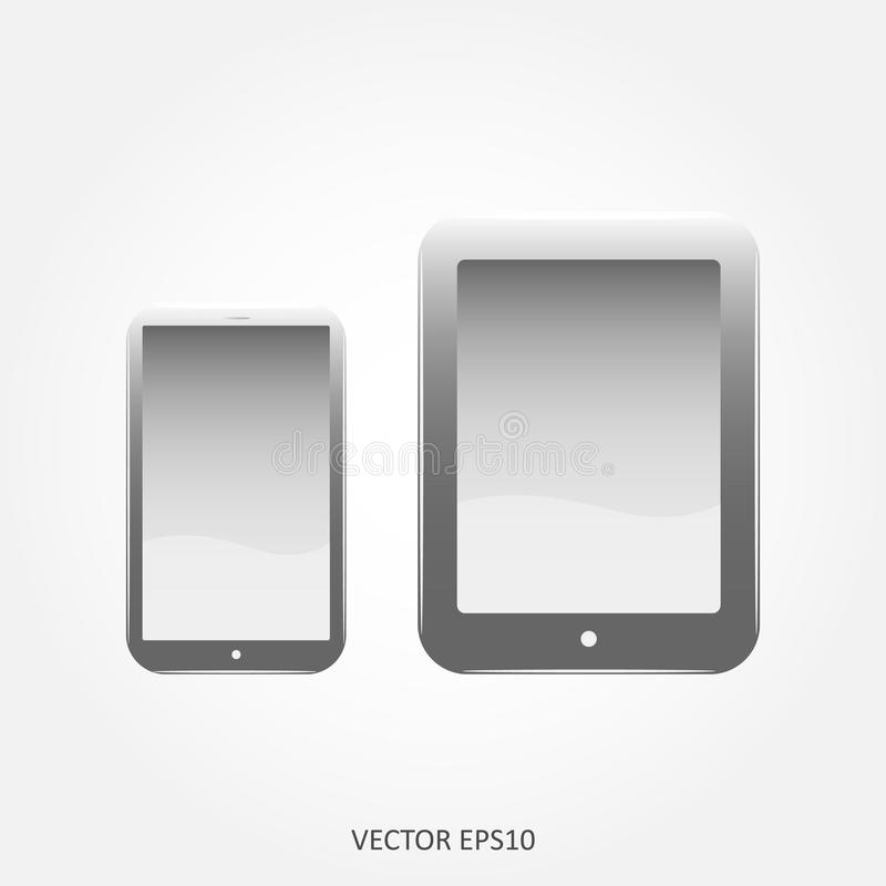 Ensemble d'icônes téléphone portable et comprimé de Web images stock