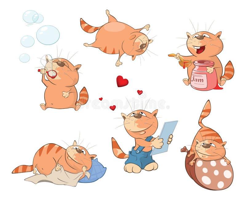 Ensemble d'illustration de bande dessinée Chats mignons pour vous conception illustration libre de droits