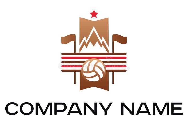 Ensemble d'illustration de vecteur de labels du football de vintage illustration libre de droits