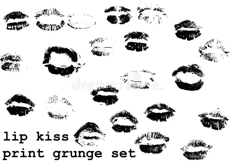 Ensemble d'impression de baiser illustration libre de droits