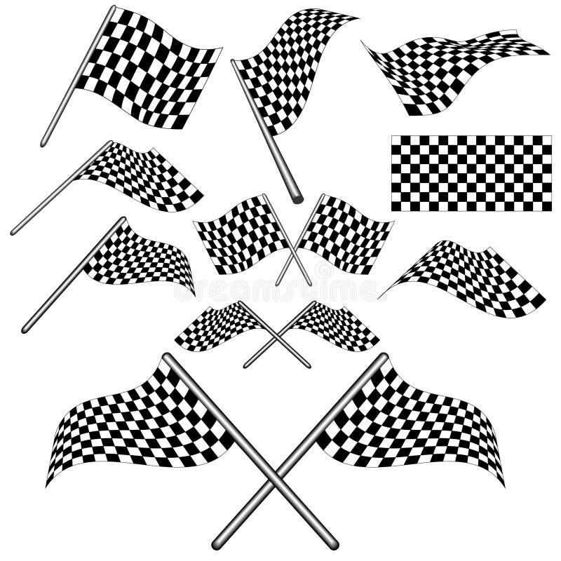 Ensemble d'indicateur checkered    illustration de vecteur