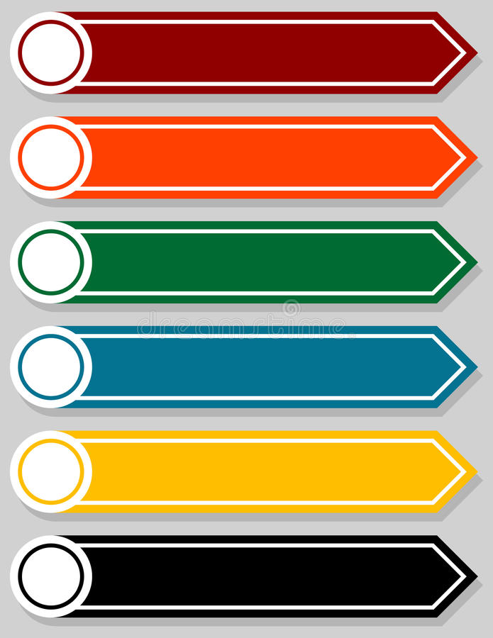 Ensemble d'indicateurs vides d'Infographic illustration de vecteur