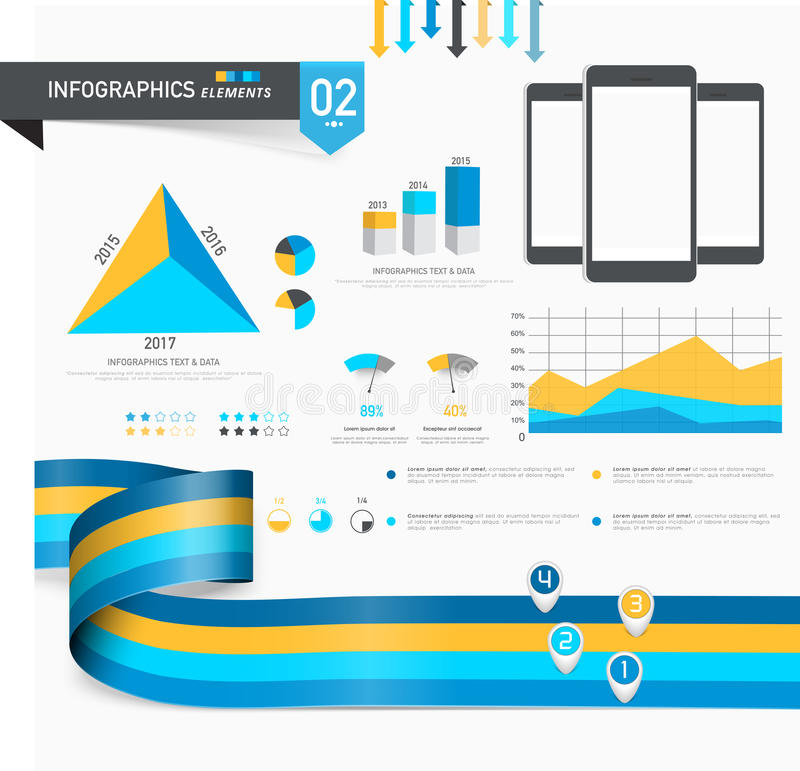 Ensemble d'infographics créatif d'affaires illustration stock