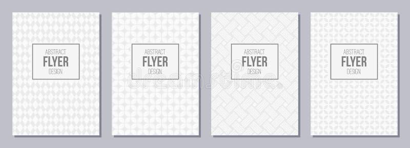 Ensemble d'insecte, affiches, bannières, plaquettes, templa de conception de brochure illustration stock