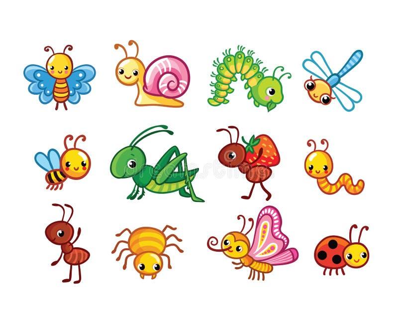 Ensemble d'insectes illustration de vecteur