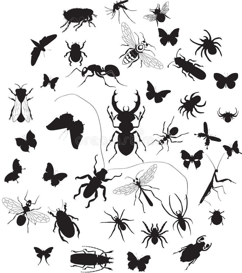 Ensemble d'insectes illustration libre de droits