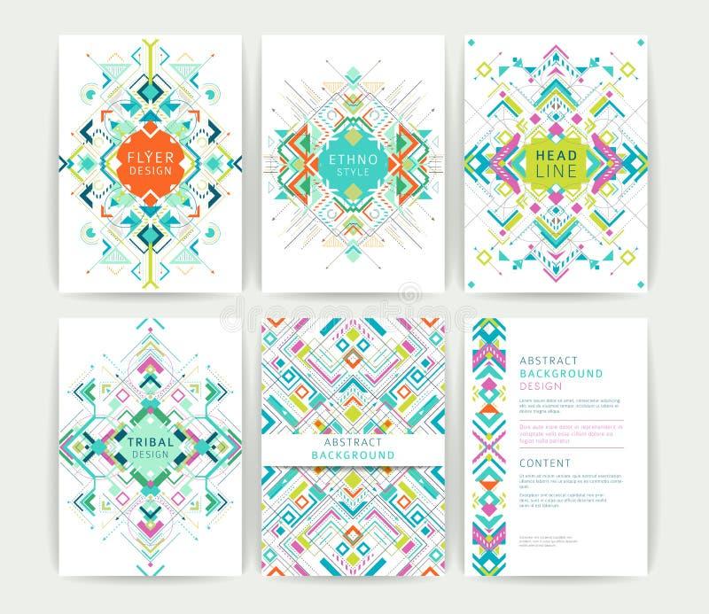 Ensemble d'insectes colorés abstraits géométriques illustration libre de droits