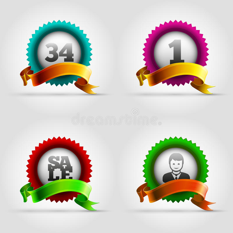 Ensemble d'insigne illustration stock