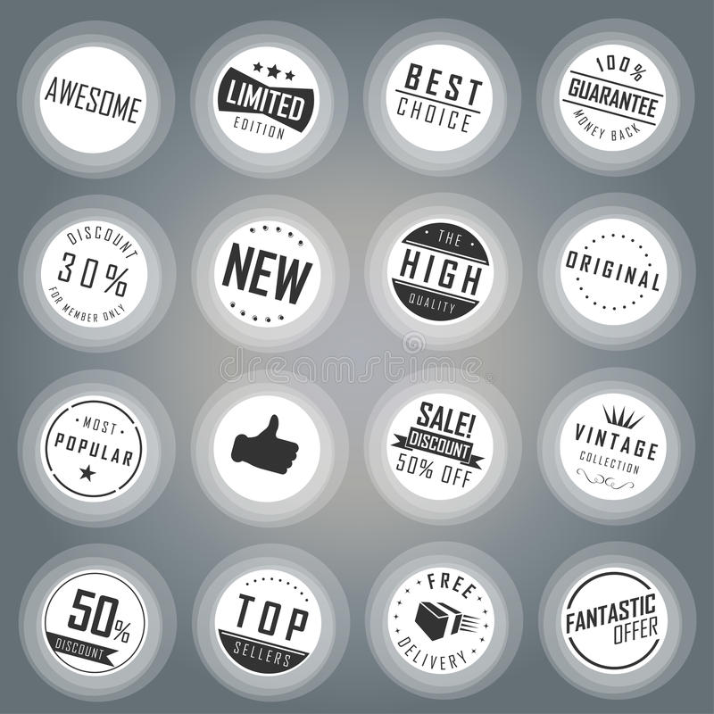 Ensemble d'insigne et de label illustration libre de droits