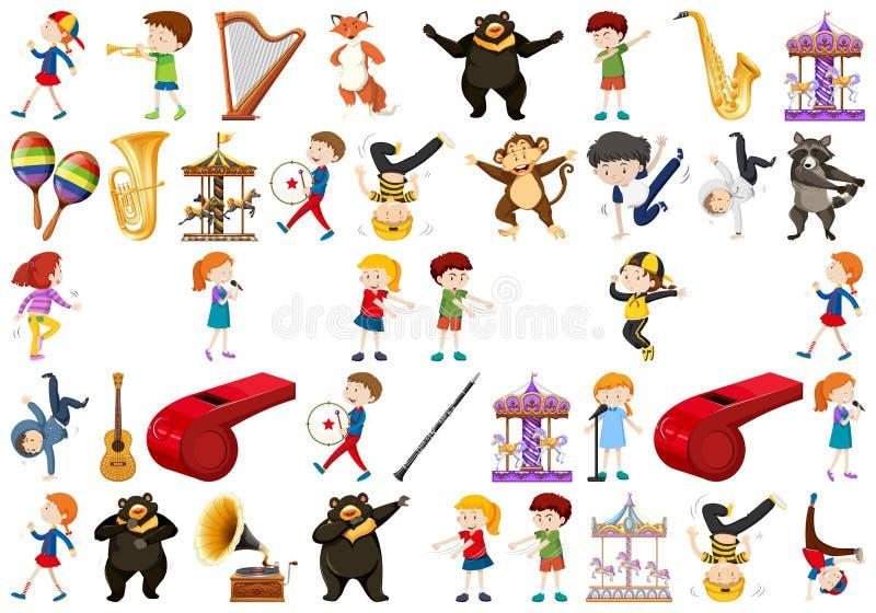 Ensemble d'instrument de musique illustration stock