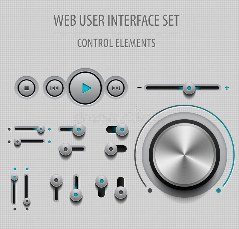 Ensemble d'interface utilisateurs d'utilisateur web illustration libre de droits