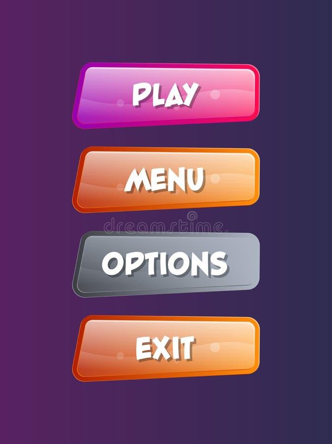 Ensemble d'isolement par fenêtres de sélection d'options illustration libre de droits