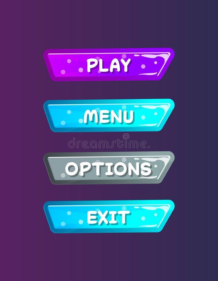 Ensemble d'isolement par fenêtres de sélection d'options illustration de vecteur