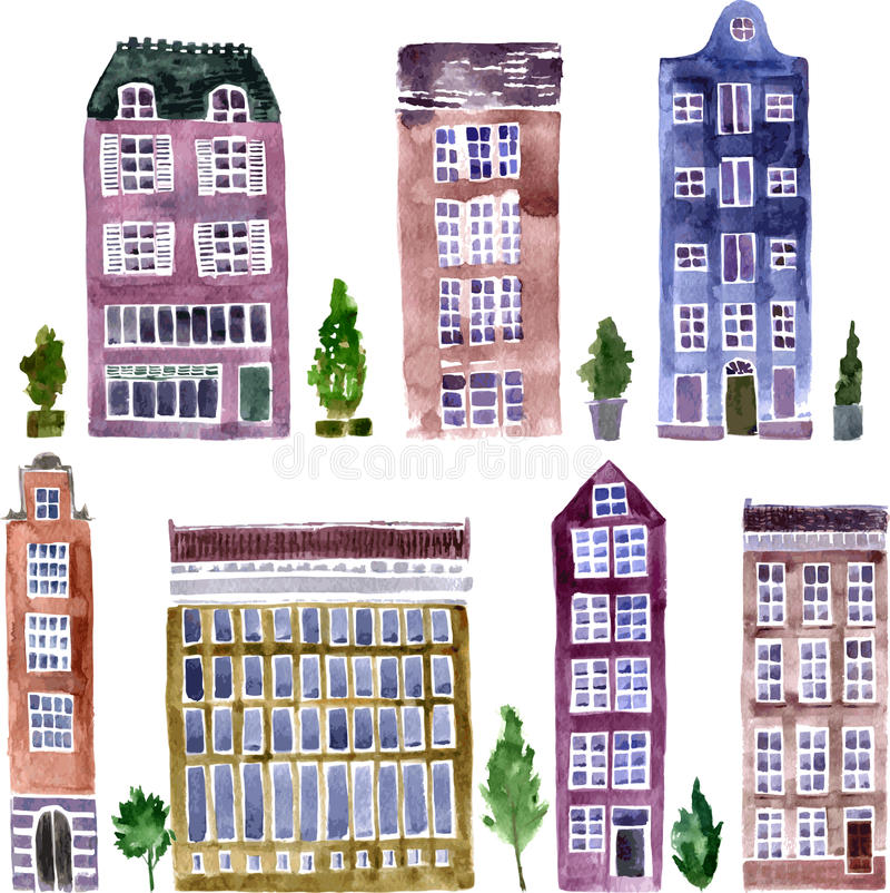 Ensemble d'objets de ville illustration stock