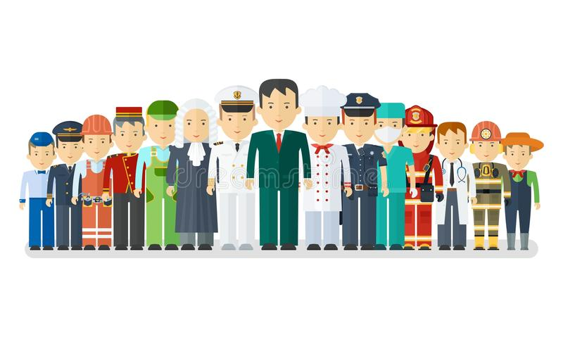 Ensemble d'ocuupations de l'homme illustration de vecteur