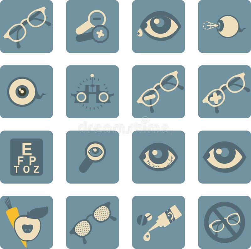 Ensemble d'ophtalmologue d'icônes illustration libre de droits