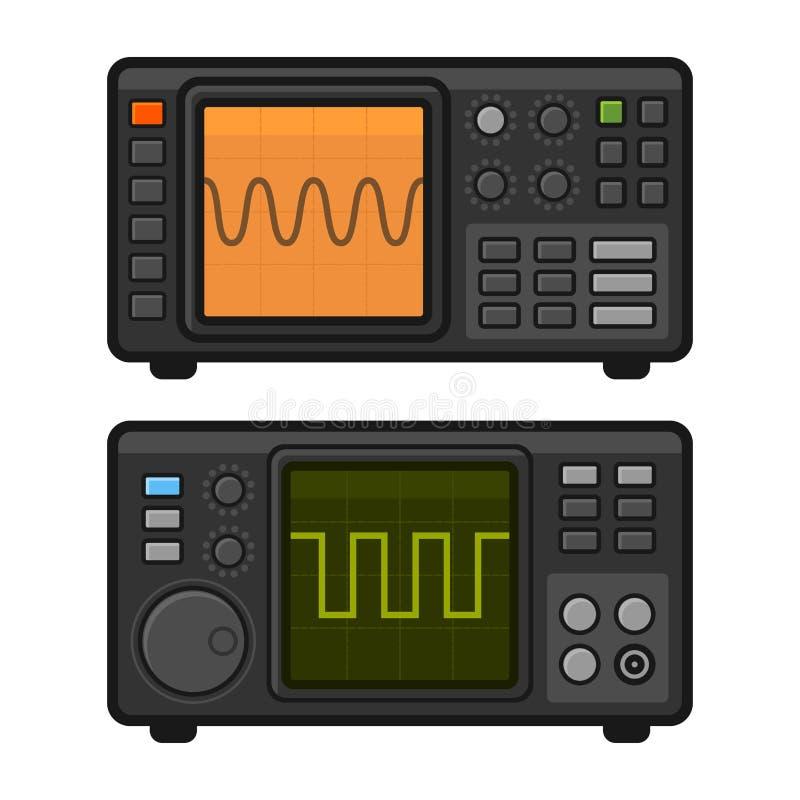 Ensemble d'oscilloscope de Digital Vecteur illustration stock
