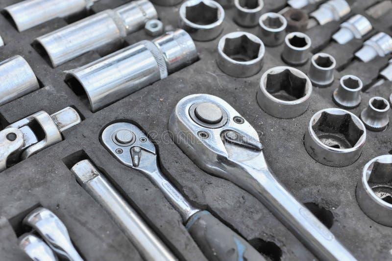 Ensemble d'outils. image stock
