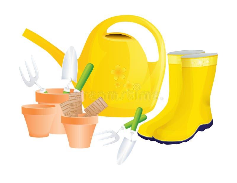 Ensemble d'outils de jardin illustration stock