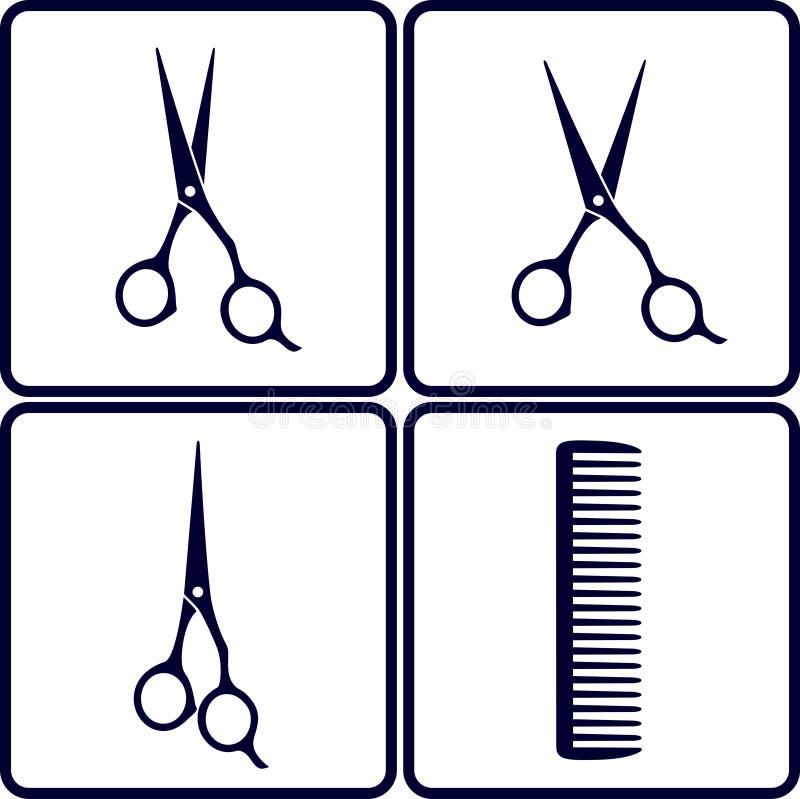 Ensemble d'outils de salon de coiffure illustration libre de droits