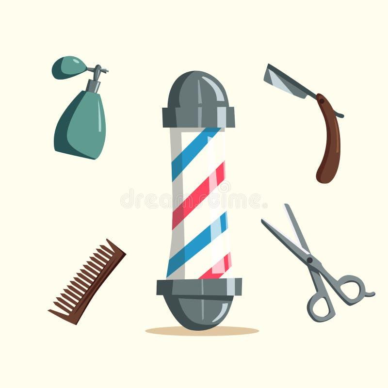 Ensemble Du0026#39;outils De Salon De Coiffure Illustration De Vecteur De Dessin Animu00e9 Illustration De ...