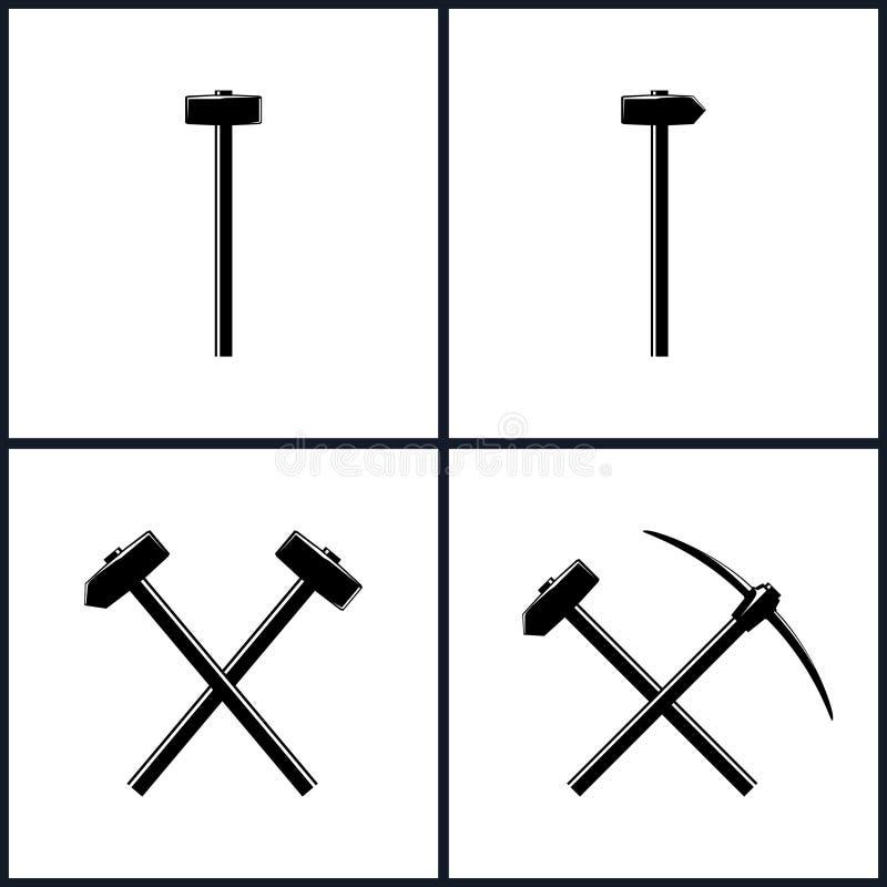 Ensemble d'outils pour des travaux de percussion illustration stock