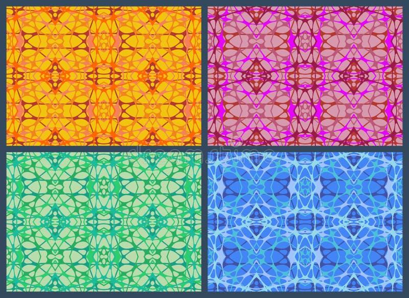 Ensemble d'une bande élastique abstraite de réseau illustration stock