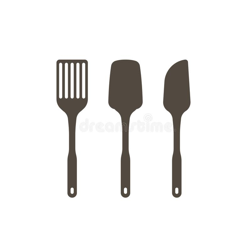 Ensemble d'ustensiles de cuisine illustration de vecteur