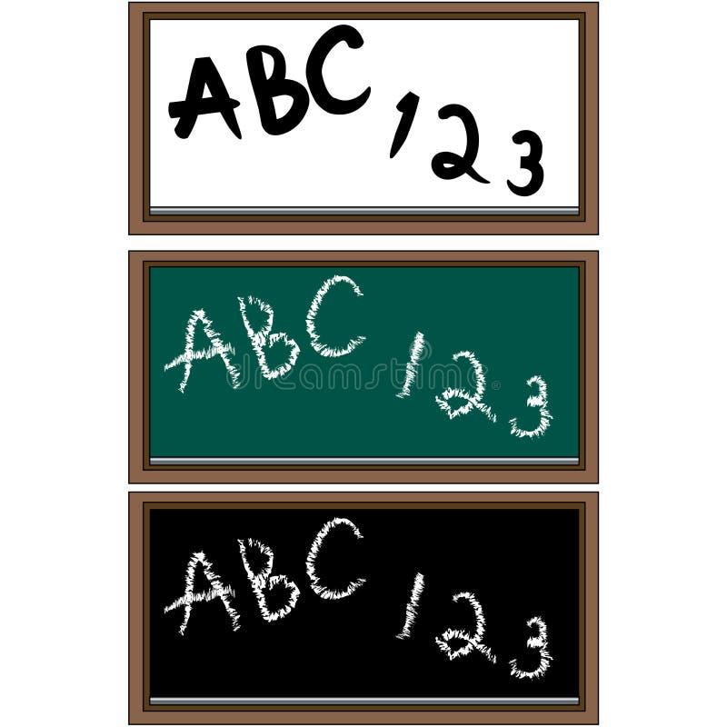Ensemble de 3 panneaux d'école illustration libre de droits