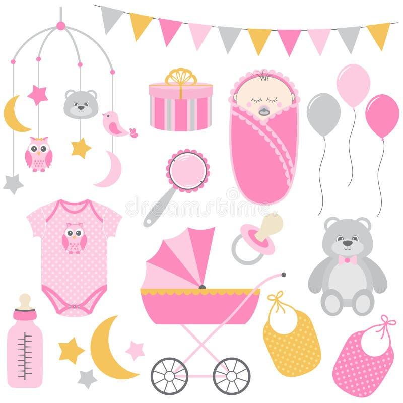 Ensemble de bébé illustration libre de droits