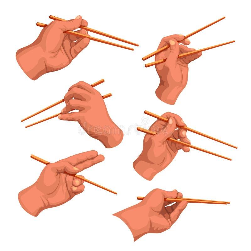 Ensemble de baguettes de main illustration de vecteur