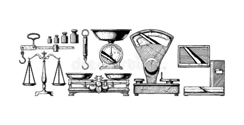 Ensemble de balances illustration stock