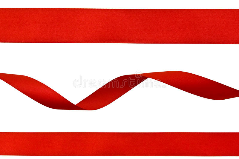 Ensemble de bandes rouges photographie stock