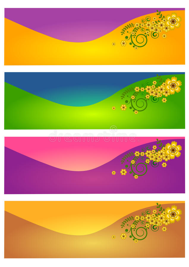 Ensemble de bannière début de Web illustration stock