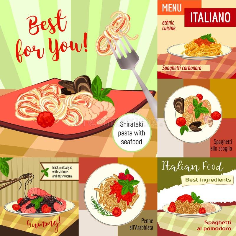 Cuisine Italienne Ligne Mince Bannière De Style De