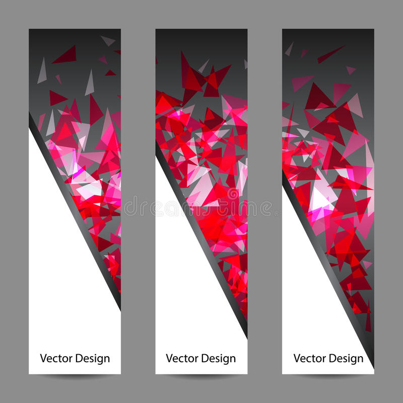 Ensemble de bannières de vecteur avec le fond polygonal illustration de vecteur