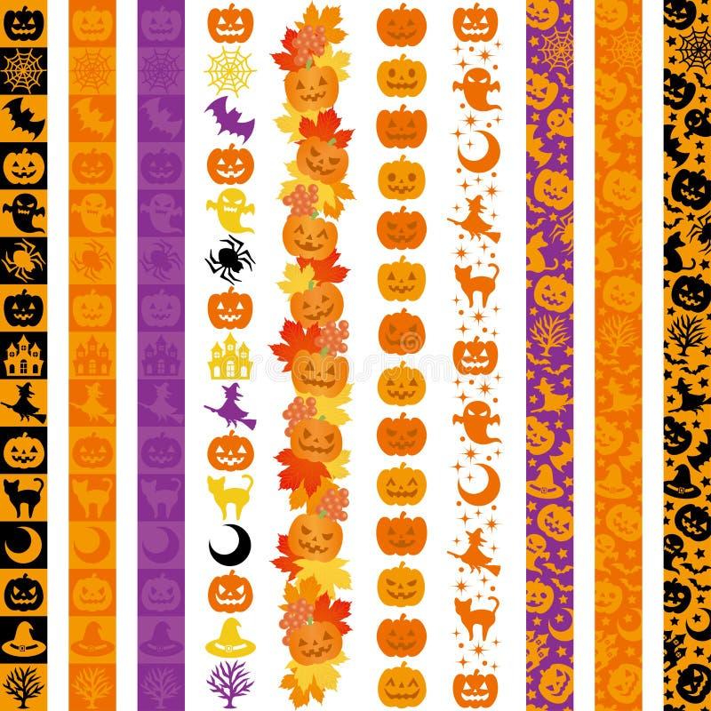 Ensemble de bannières de verticale de Halloween illustration de vecteur