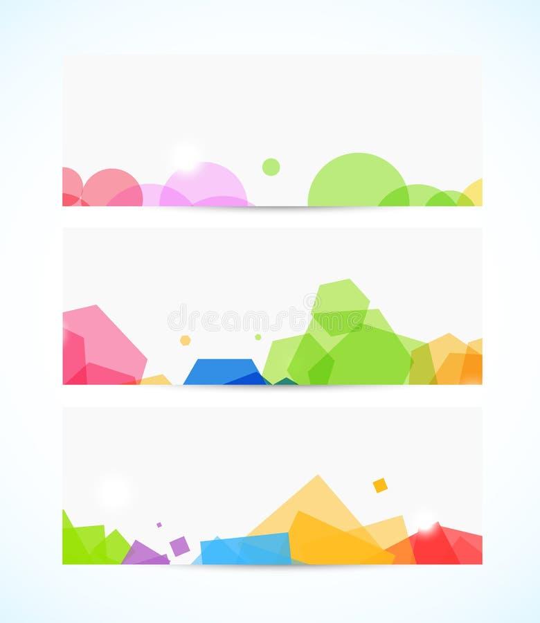 Ensemble de bannières géométriques illustration stock